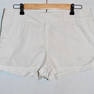 White J. Crew Chino Shorts